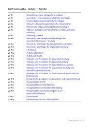 Health Communication - Bachelor - 1-Fach (fw) - Universität Bielefeld