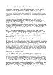Carla Mann - Ortsverein BonnKöln der Deutschen Thomas Mann ...