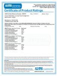 Certificate of Product Ratings - Dual Air Heat Pump - Page 4