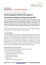 Panoramagalerie Pilatus Kulm gewinnt Corporate Architecture ...