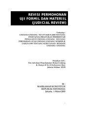 revisi permohonan uji formil dan materiil (judicial review) - Elsam