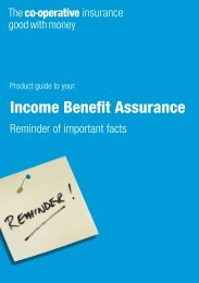 Income Benefit Assurance - The Co-operative Insurance