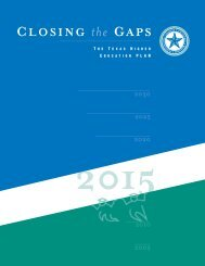Closing the Gaps, The Texas Higher Education Plan