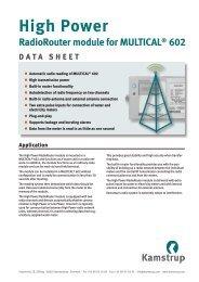 Data sheet - Kamstrup