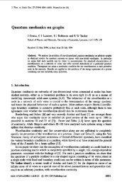 Quantum mechanics on graphs - Physics at Lancaster University