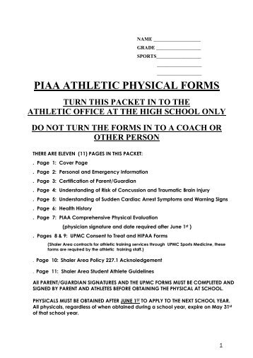PIAA Physical Form