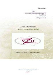 Valsts zemes dienesta 2009.gada publiskais ... - Tieslietu ministrija