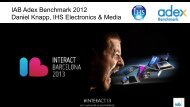IAB Adex Benchmark 2012 Daniel Knapp, IHS ... - IAB Community