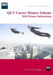 Mentor Information Booklet - QUT Careers and Employment