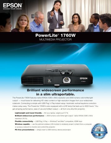 PowerLite® 1760W - AVI-SPL