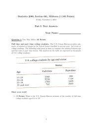 MA3238/ST3236 Midterm Test