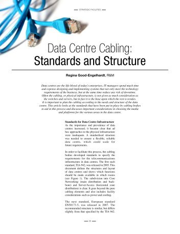 Data Centre Cabling: Standards and Structure - R&M