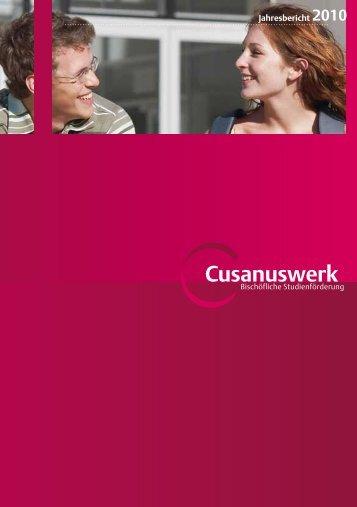 Jahresbericht 2010 - Cusanuswerk