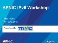 Training ISP IPV6 Addressing Plan
