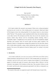 A Simple Test for the Consecutive Ones Property - Academia Sinica