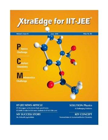 XtraEdge for IIT-JEE 1 JUNE 2010 - Career Point