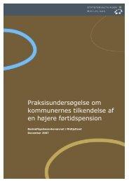 Praksisundersøgelse om kommunernes tilkendelse af en højere ...