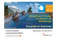 Erneuerbare Energien am Beispiel der Solarenergie Energieforum ...