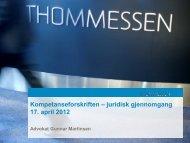 Kompetanseforskriften – juridisk gjennomgang - Energi Norge