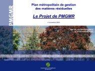 DA 12 - Présentation PowerPoint du projet de plan métropolitain de ...