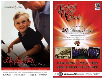 20 Years Of Joy - Federal Way Chorale