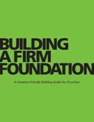 A Creation-Friendly Building Guide for Churches - About Us