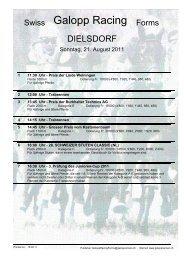 21. August 2011 DIELSDORF Rennen 1 - Galopp Racing Forms