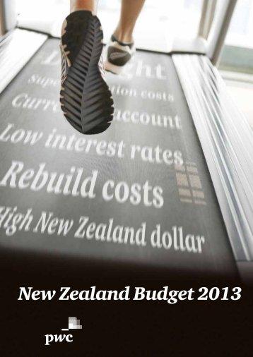 New Zealand Budget 2013 - PwC