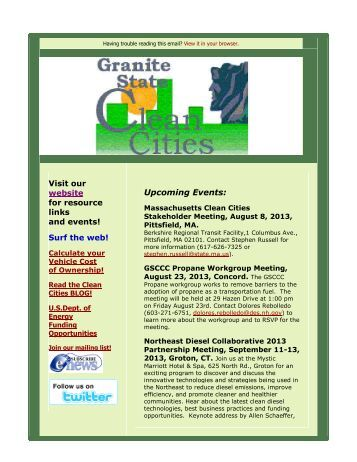 August 2013 - Granite State Clean Cities Coalition - NH.gov