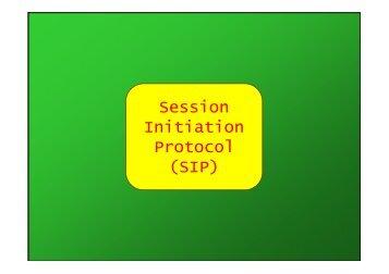 Session Initiation Protocol (SIP) - Università di Palermo