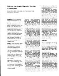 Outcome of anxiety and depressive disorders in primary care