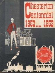 Chesterton Centennial, 1852-1952 - Porter County, Indiana