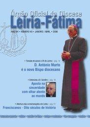 D. António Marto é o novo Bispo diocesano - Diocese Leiria-Fátima