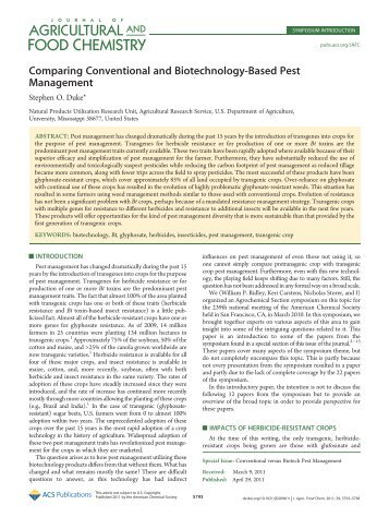 Comparing Conventional and Biotechnology-Based Pest Management