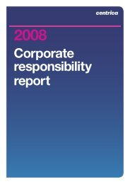Download the 2008 Corporate Responsibility report PDF - Centrica
