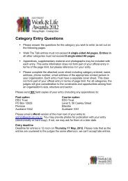Category Entry Questions - Equal Employment Opportunities Trust
