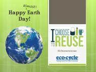 View our I Choose to Reuse Earth Day presentation - Eco-Cycle
