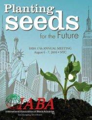 2010 Annual Meeting Program - International Association of Black ...
