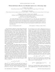 Photon interference effect in x-ray absorption spectra over a wide ...