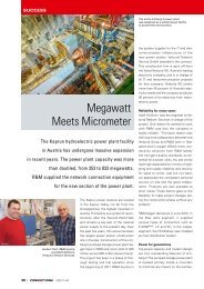 Hydroelectric Power Plant, Kaprun, Austria - R&M