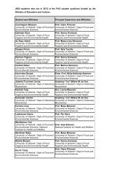 ABS students who are in 2012 in the PhD student positions funded ...