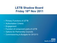 Primary Function of LETB - Workforce and Education