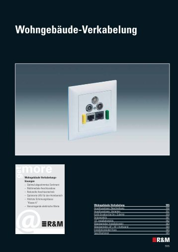 Wohngebäude-Verkabelung - R&M