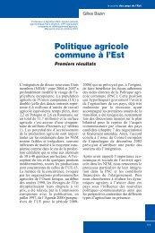 Politique agricole commune à l'Est - INRA Montpellier