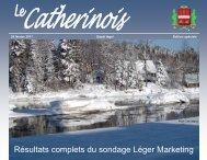 Résultats complets du sondage Léger Marketing - Ville de Sainte ...