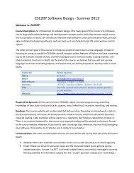 CSC207 Software Design - Summer 2013 - Communications Group