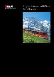 Jungfrau Bahnen, Schweiz, 2002 - R&M