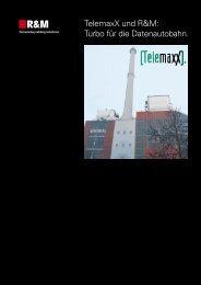TelemaxX Telekom GmbH, Karlsruhe, Deutschland, 2001 - R&M