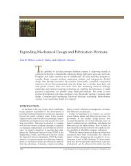 Expanding Mechanical Design and Fabrication Horizons