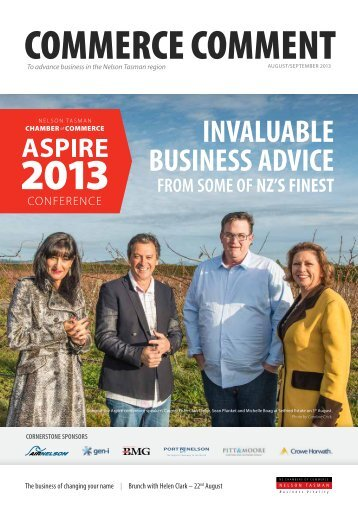invaluable business advice - Nelson Tasman Chamber of Commerce